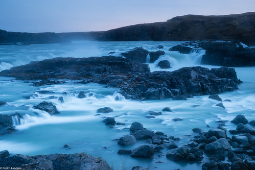annahenly goingdigital iceland waterfall river water bluehour urriðafoss