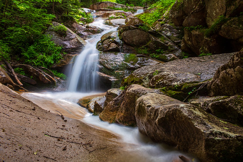 fallingwaters fallingwaterstrail whitemountain nationalforest franconiaridge franconianotch statepark newhampshire newengland stream trail hiking water mountain trees rocks waterfall forest landscape summer park canon 6d longexposure swiftwater falls hdr