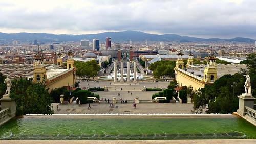 View from the Museu d'Art de Catalunya in Barcelona