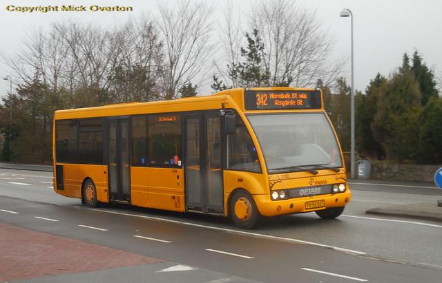 LHD Optare Solo 3102 route 342