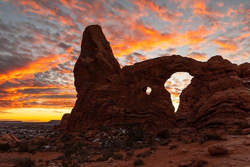 utah archesnationalpark arches nationalpark turretarch moabutah sunset sunsetcolor winter fierysunset landscapephotography jamesmarvinphelps jamesmarvinphelpsphotography
