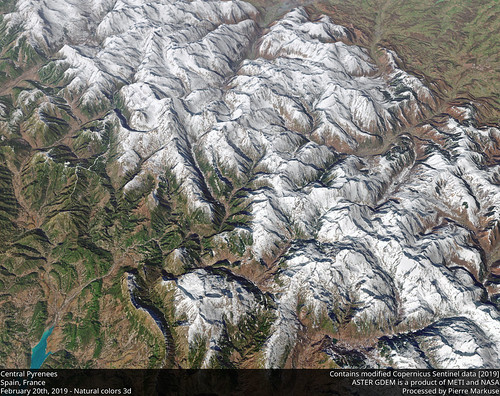 Central Pyrenees, Spain, France 3d view | by Pierre Markuse