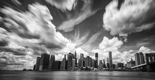 Manhattan in black and white