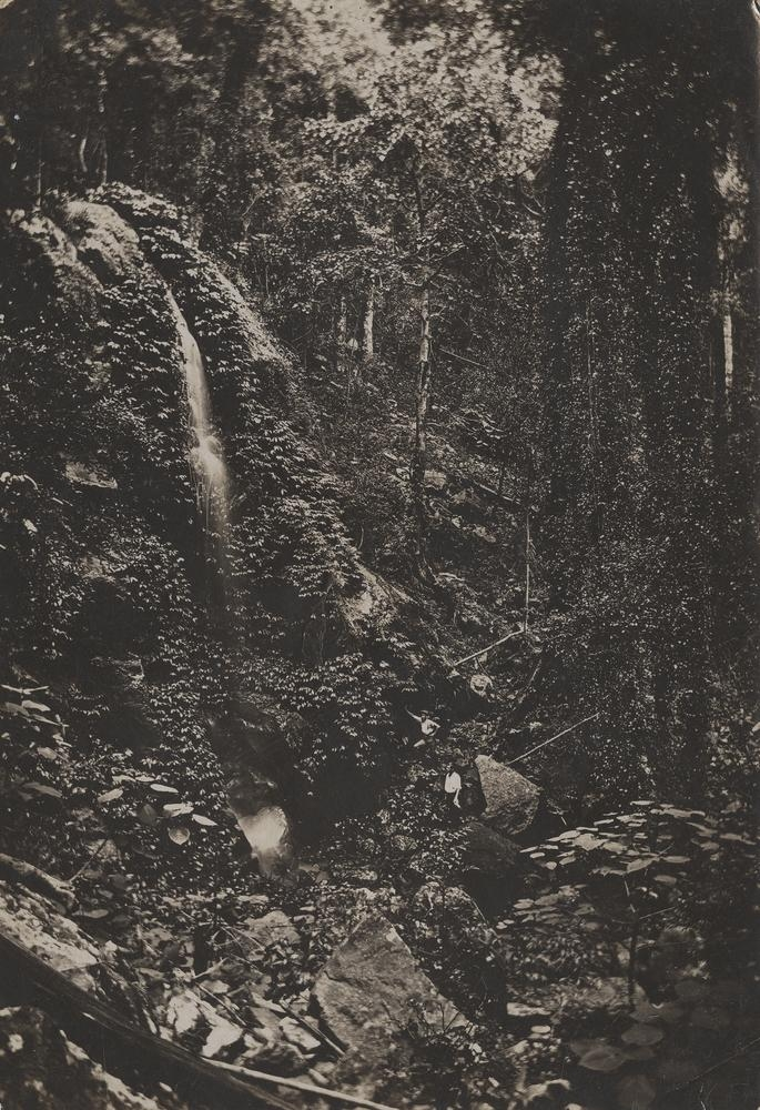 Small waterfall in the bush Bunya Mountains Queensland
