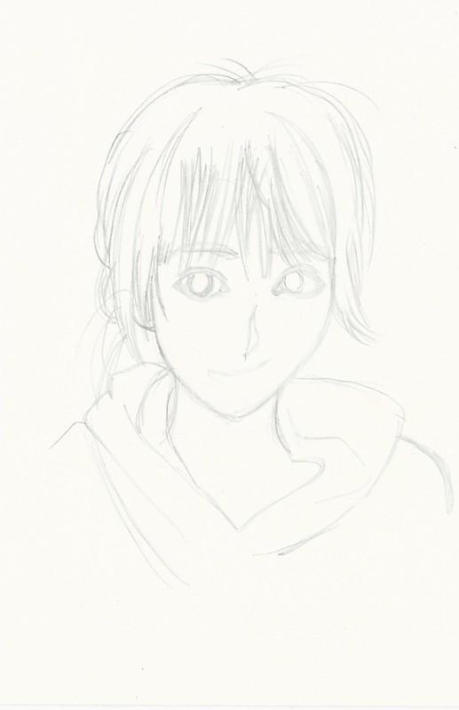 Michishige Sayumi First Manga pen drawing I