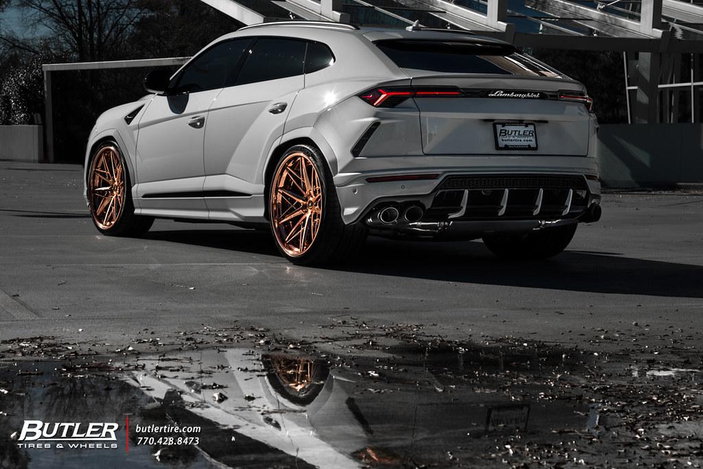 Lowered Lamborghini Urus With 24in Ag Luxury F538 Wheels Flickr