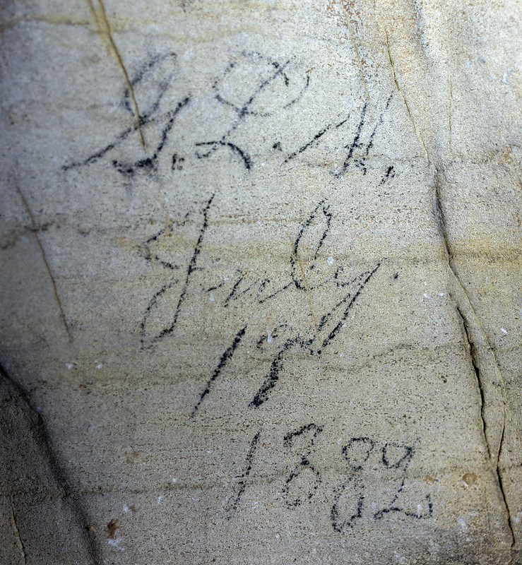 Historic signature, Johnson Cave, Putnam County, Tennessee 1