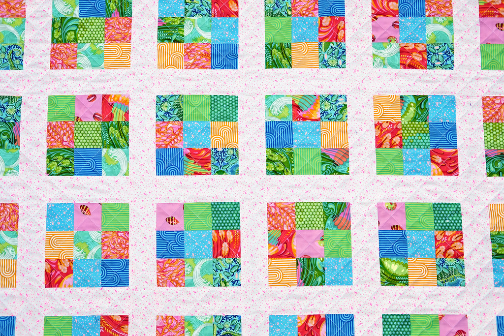 Zuma Modern Postage Stamp Quilt - Kitchen Table Quilting
