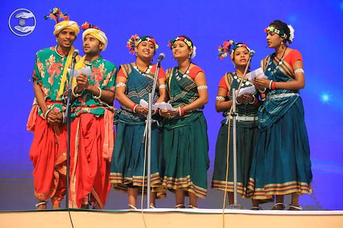Raj Kumar and Sathi sung a traditional song, Durg
