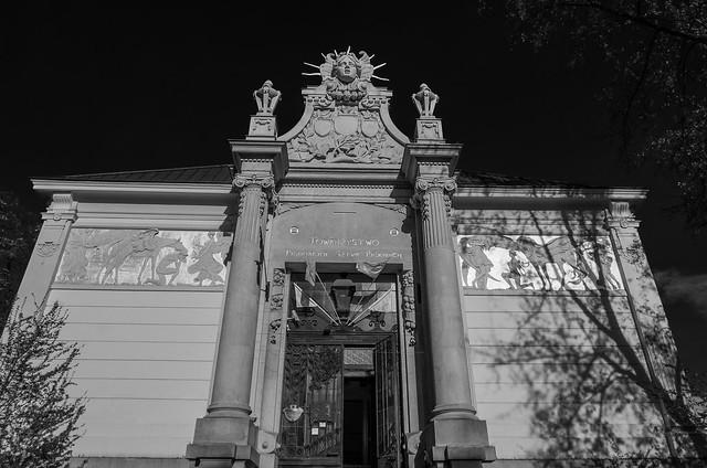 Palace of Arts (Szcezpanski Square) Art Noveau Style ( 1901) Krakow (Monochrome) (Panasonic Lumix LX100-II) (1 of 1)