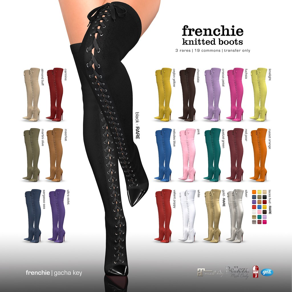 Gos Boutique at Epiphany   Frenchie Knitted Boots Gacha 3 Ra