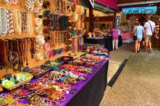 Shoppers at the Heritage Markets in Kuranda Queensland Australia