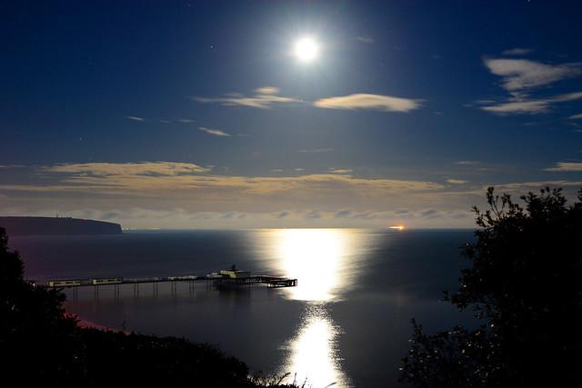 Super Full Moon Over Sandown Bay