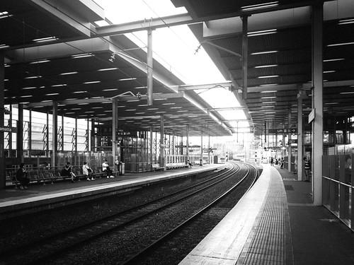 appleiphone7 australia bw building landscape newsouthwales parramatta sydney trainstation traintracks