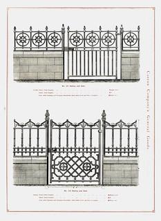 Cast Iron Gates & Railings  Carron Co  1891   Cast Iron Gate
