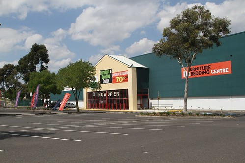 Former Bunnings Warehouse store in Epping now a furniture and bedding clearance centre