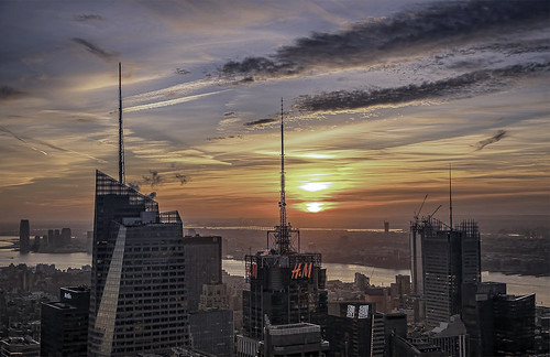 sunset manhattan nyc newyorkcity 30rock cityscape