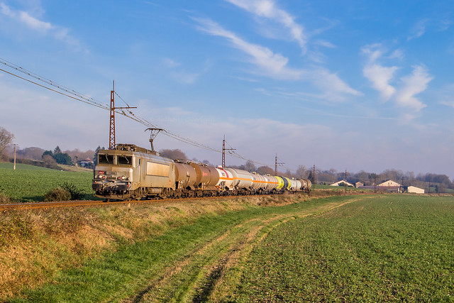 04 janvier 2019 BB 7359 Train 489299 Artix -> Bayonne Cauneille (40)