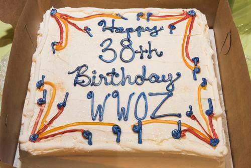 Cake at WWOZ 38th birthday celebration on December 5, 2018. Photo by Ryan Hodgson-Rigsbee RHRphoto.com