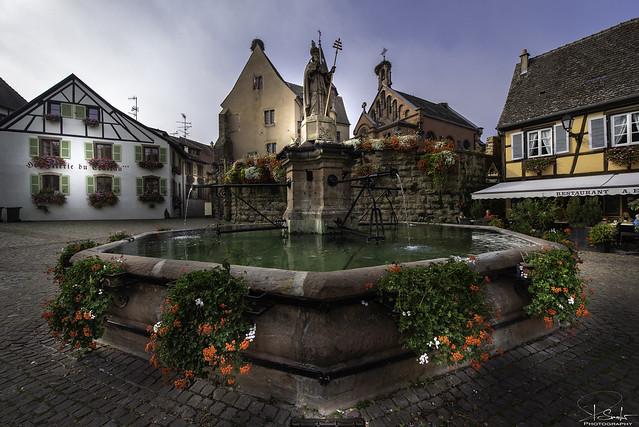 Saint-Leon Square in Eguisheim - Alsace - France