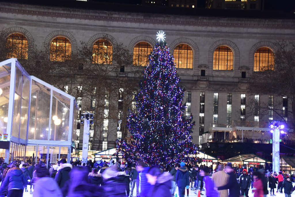 Bryant Park Christmas.A Picture Of The 2018 Bryant Park Christmas Tree In New Yo
