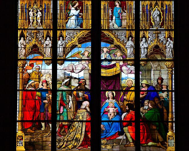 Kölner Dom - Anbetungsfenster - Ausschnitt
