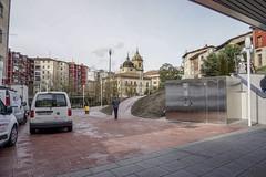 Vista desde la entrada de la nueva estación