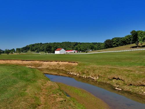 harmons covered bridge plum creek water stream scenic scenery landscapes farm indiana county pa pennsylvania bridges georgeneat patriotportraits neatroadtrips