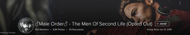 Thank you ♂Male Order♂ - The Men Of Second Life