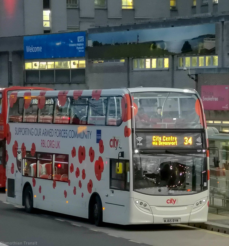 Plymouth Citybus 521 WJ65BYM