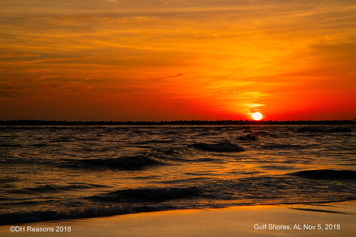 alabama beach fall gulfshores sunset