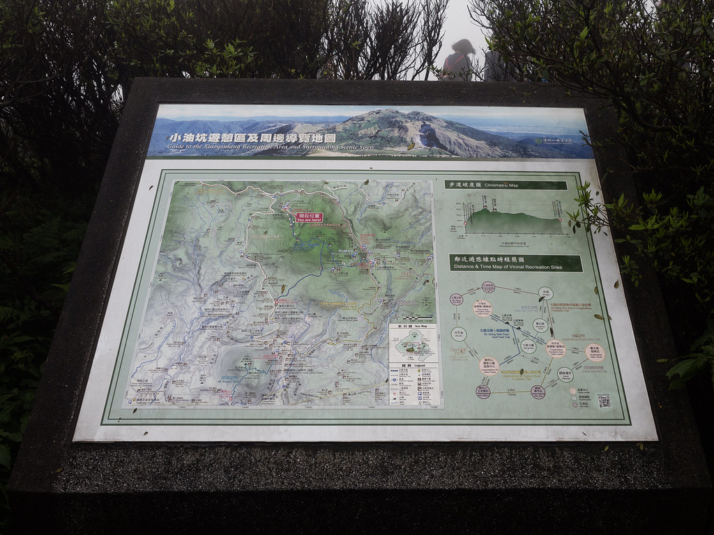 The master map of Yangmingshan National Park, Taiwan