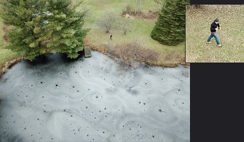 gatesmills willoughby ohio oh frozen pond ice freezing drone dji mavic pro mavicpro aerial view montage mosaic