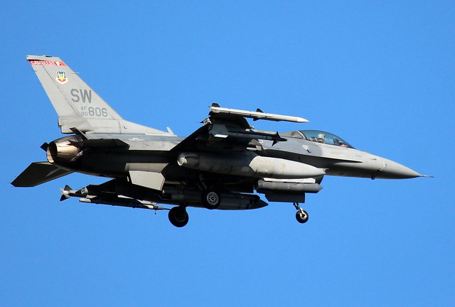 U.S. Air Force F-16C Fighting Falcon, 77thFS, 20th FW, (2)