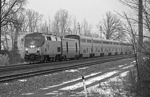 amtrak amtraktrains amtraklocomotives amtrakp42locomotives p42dc amtrakp42dc amtrakscapitollimited capitollimited passengertrain passengercars amtraksuperliners bereaohio blackandwhitephotography
