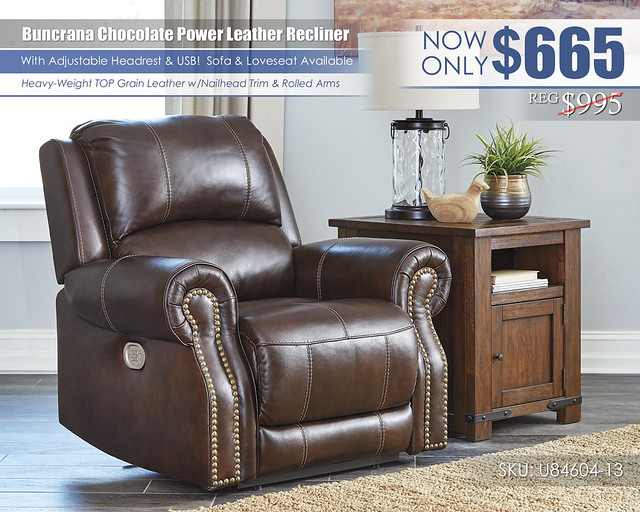 Buncrana Chocolate Power Recliner_U84604-13