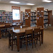 The adult collection and study tables at Liberty Center Public Library. State Librarian Beverly Cain, Julia Ward, and Bill Morris traveled to Northwest Ohio in August 2018 to meet former State Library Board Member, John Myles, for a tour of four public libraries and the Museum of Fulton County.