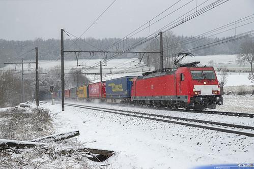 186 338 DB Cargo . E 43675 . Hombourg . 30.01.19.