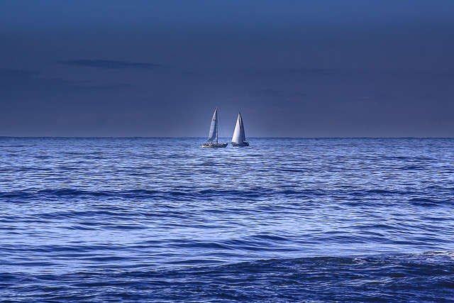 ....sailboats into the blue....