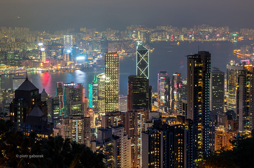 hongkong victoria harbour skyline hill panoramic night evening skyscrapers city classic island asia asian architecture modern pietkagab photography pentax pentaxk5ii piotrgaborek travel trip tourism adventure chinese