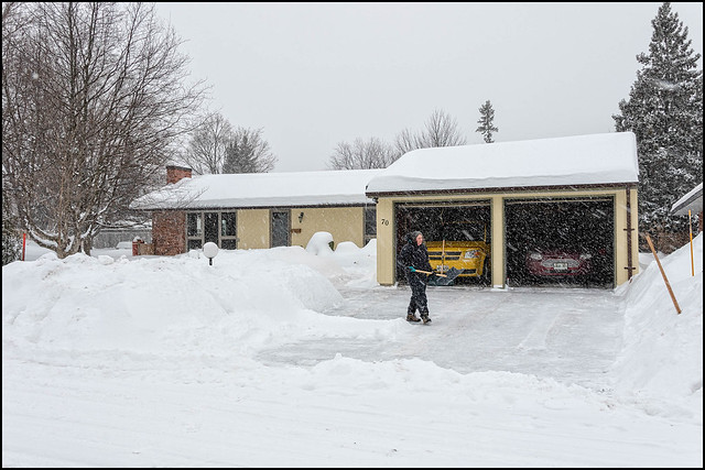 Jane Clears the Driveway