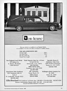 1989 Gilles Bouchard Dem-Hearse on Cadillac chassis (Canada)