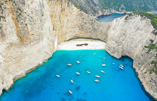 Panagiotis Shipwreck at Navagio Beach Zakynthos Greece aerial | by dronepicr