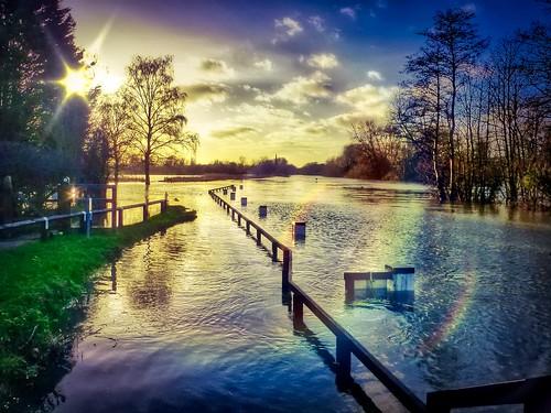 landscape water river flood