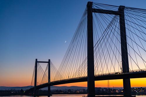 bridge suspensionbridge cablebridge pasco easternwashington moon newmoon