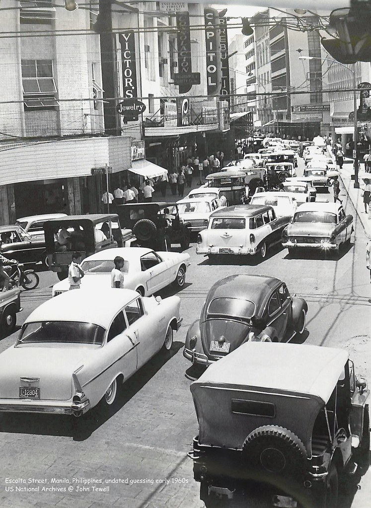 Escolta Street, Manila, Philippines, undated guessing early 1960s