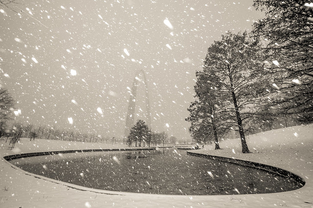 St. Louis Arch Grounds Snow