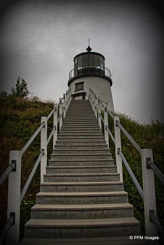 lighthouse maine owlshead light penobscotbay water coast harbor rockland ocean sea coastal newengland outdoor vignette history 1825 canon slr eos 7d