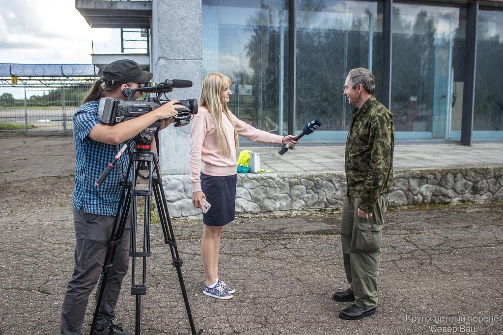 Токарев Валерий Иванович даёт интервью