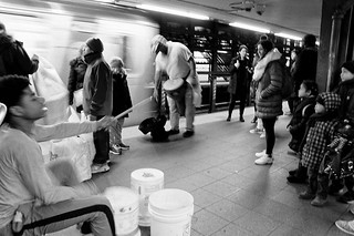 drum busking NYC subway | by 4paul!